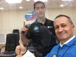 Thomas Pesquet et Hervé Stevenin