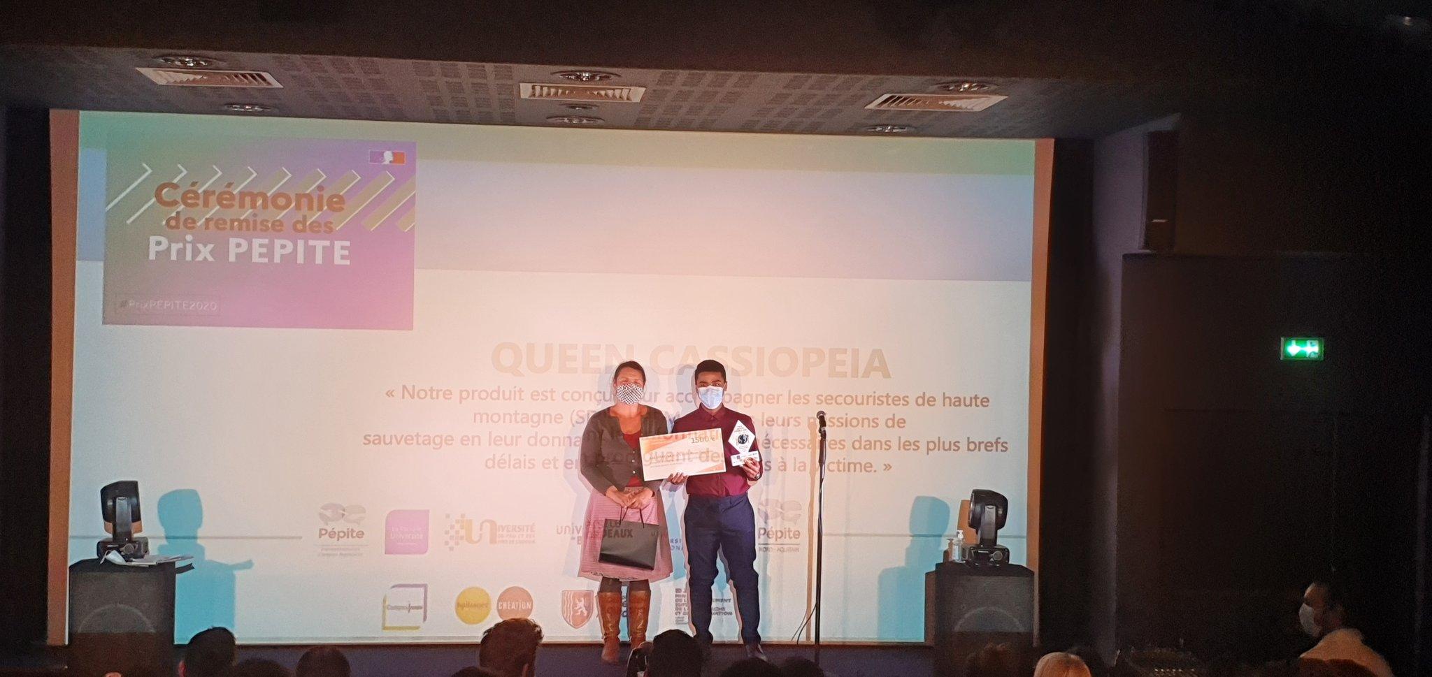 Un nouveau prix PEPITE pour l'Ensmatique Adel Lusakula