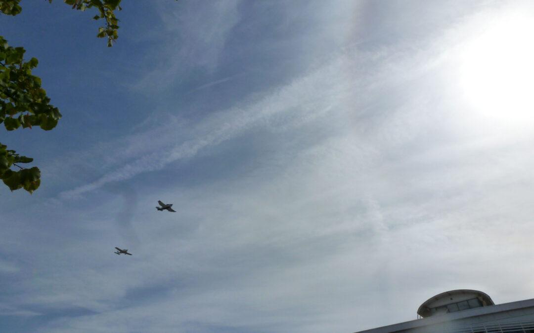 Les avions de l'ENSMAir survolent l'ISAE-ENSMA